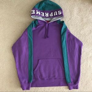Supreme Paneled Hooded Sweatshirt Violet